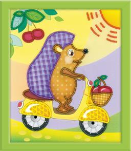 Riolis  Stamped Cross Stitch Kit - Hedgehog