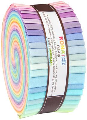 Robert Kaufman Roll Ups: Kona Cotton, New Pastel Palette
