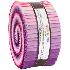 Robert Kaufman Roll Ups: Kona Cotton - Wildberry Palette