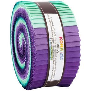 Robert Kaufman  Roll Ups: Kona Cotton - Aurora Palette