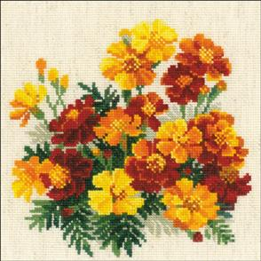 Riolis  Marigolds - Cross Stitch Kit