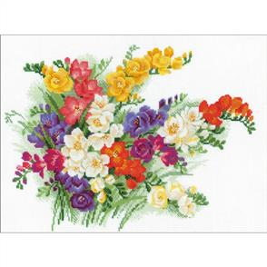 Riolis  Freesia - Cross Stitch Kit