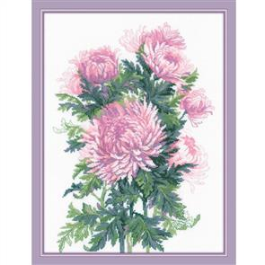 Riolis  Bouquet of Chrysanthemums - Cross Stitch Kit