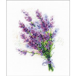 Riolis  Bouquet With Lavender - Cross Stitch Kit