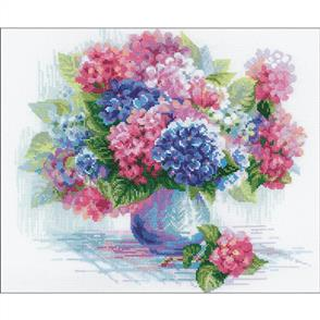 "Riolis  Counted Cross Stitch Kit 13.75""X11.75"" - Hydrangea"