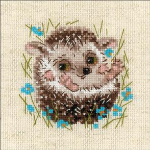 "Riolis  Counted Cross Stitch Kit 5""X5"" - Hedgehog"