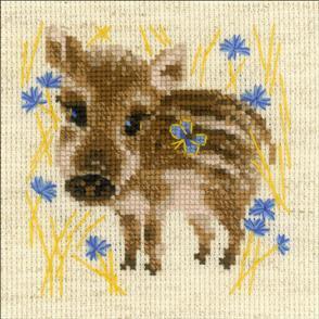 "Riolis  Counted Cross Stitch Kit 5""X5"" - Little Boar"