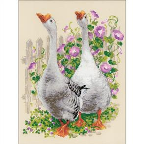 """Riolis  Counted Cross Stitch Kit - 11.75""""X15.75"""" - Geese"""