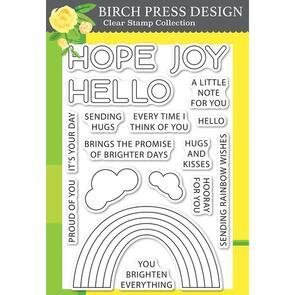 Birch Press Rainbow Days Lingo Notes Clear Stamp Set