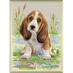 Riolis  Diamond Mosaic Embroidery Kit - Basset Hound