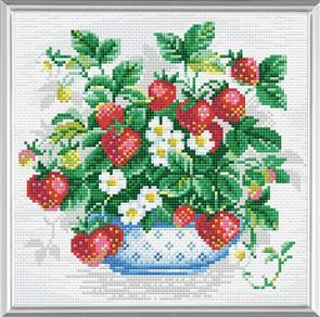 Riolis  Diamond Mosaic Embroidery Kit - Basket Of Strawberries