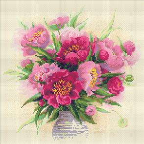 Riolis Diamond Mosaic Embroidery Kit - Peonies In A Vase