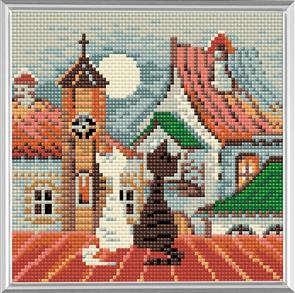 Riolis  Diamond Mosaic Embroidery Kit - City & Cats Spring