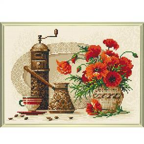 Riolis  Diamond Mosaic Embroidery Kit - Coffee