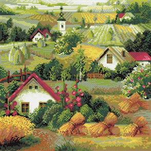 Riolis  Diamond Mosaic Embroidery Kit - Serbian Landscape
