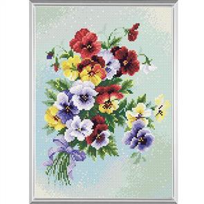 Riolis  Diamond Mosaic Embroidery Kit - Pansy Medley