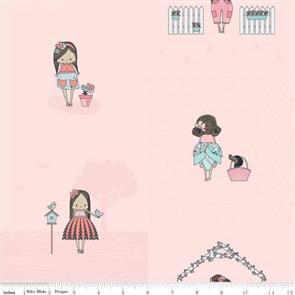 Riley Blake  Abbie's Garden Pink
