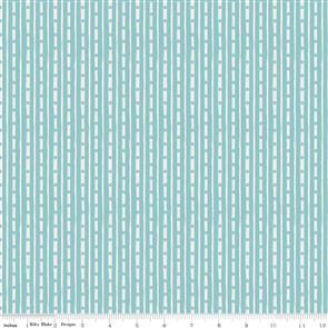 Riley Blake  Abbie's Garden Stripe Aqua