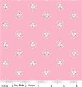 Riley Blake  Bluebirds on Roses - 7943 Pink