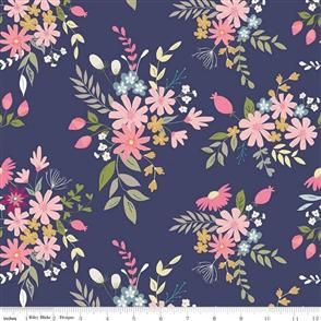 Riley Blake  In the Meadow - 7990 Navy