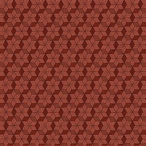 Blank Quilting  Rustic Homestead - Stars Red