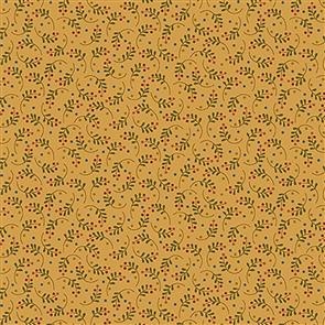 Blank Quilting  Rustic Homestead - Leaf Feather Gold