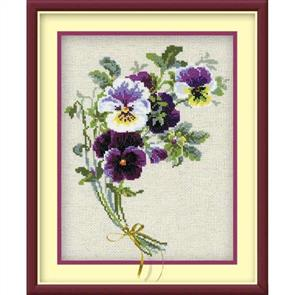 Riolis  Bunch of Pansies - Cross Stitch Kits