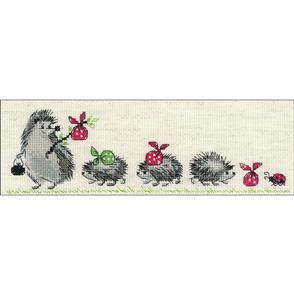 "Riolis  Counted Cross Stitch Kit -  9.5""X3.25"" - Hedgehogs"