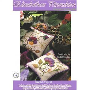 Rajmahal Elizabethan Pincushion Kit - Pastel