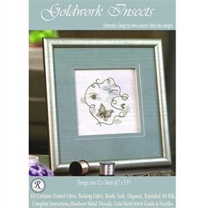 Rajmahal  Goldwork Insects Embroidery Kit