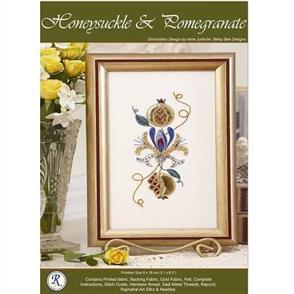 Rajmahal Honeysuckle & Pomegranate Embroidery Kit