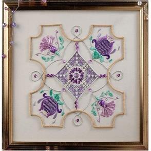 Rajmahal Lilac Time Embroidery Kit