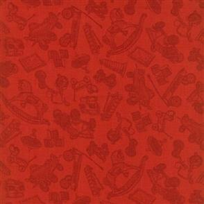 RJR Fabric  s - Toy Toss Red