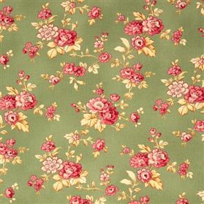 RJR Fabric  s - Esprit Maison - Petit Fleur Green