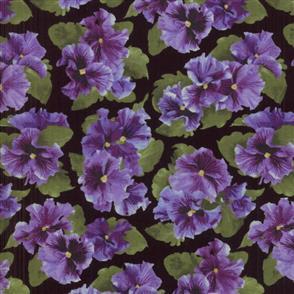 RJR Fabric  s - Lovely - Pansy Black