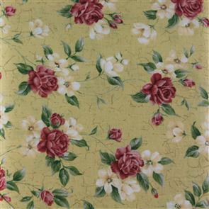 RJR Fabric  s - Sincerely Yours - Antique Florals Flax