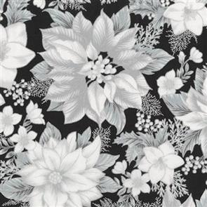 Robert Kaufman  Holiday Flourish - 17336 Black