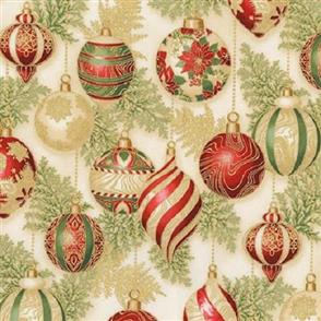 Robert Kaufman  Holiday Flourish - 17338 Cream