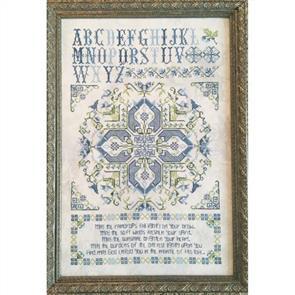 Rosewood Manor Cross Stitch Pattern - Leeds House Sampler
