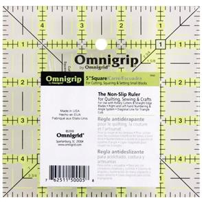 """Omnigrid Omnigrip Non-Slip Quilter's Ruler 5"""" X 5"""""""