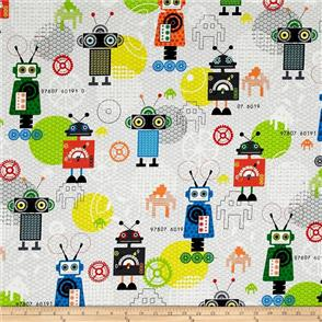 Red Rooster  Fabrics - iBot Grey