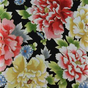 Red Rooster  Fabric - Akahana - 25820 Black