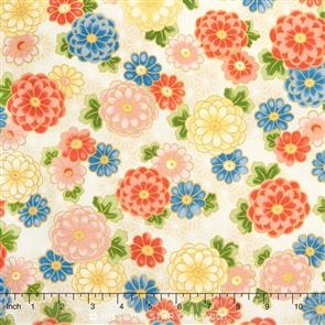Red Rooster  Fabric - Akahana - 25825 Cream