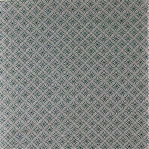 Red Rooster  Fabric - Cottage Basics - 19399 Grey