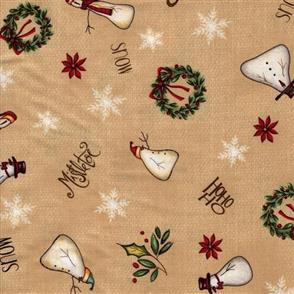 Red Rooster  Christmas Whimsy - 25208 Beige
