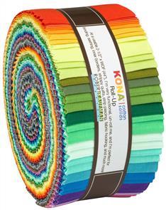 Robert Kaufman  Strips Kona Cotton 2019 New Colors, 40pcs/bundle