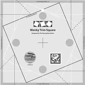 Creative Grids  Wonky Trim Square Ruler