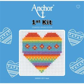 Anchor  1st Kit: Counted Cross Stitch - Heart
