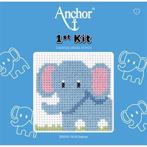 Anchor  1st Kit: Counted Cross Stitch - Elephant