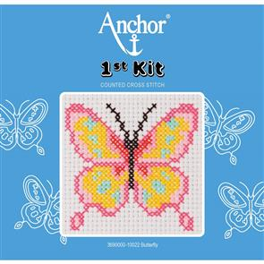 Anchor  1st Kit: Counted Cross Stitch - Butterfly